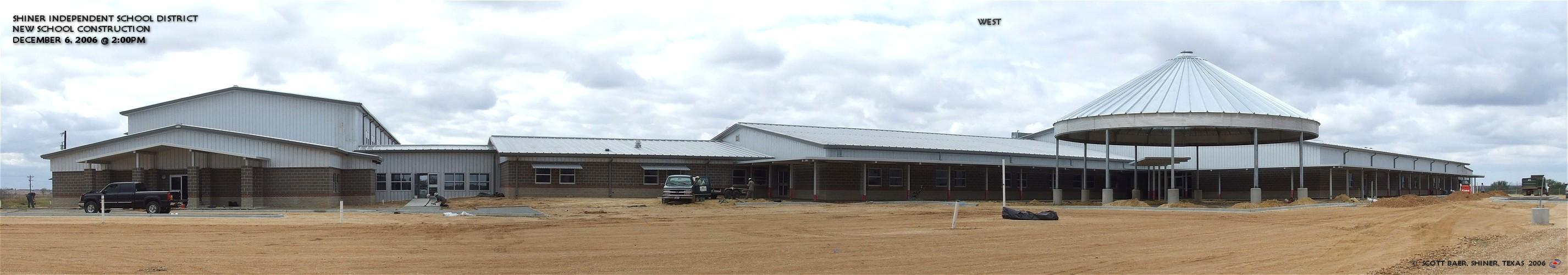 New Shiner School Construction - December 6, 2006